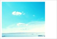 碧海蓝天-彩边拍立得横款(6张P)