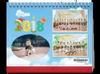 亲子 宝贝 儿童 幼儿园学校 家庭卡通温馨-8寸横款单月双面台历(7页)