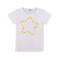星星母版-童装纯棉白色T恤