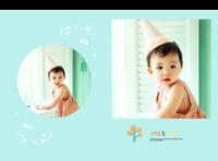 精致内页宝宝韩版照片书(封面图片可改)-硬壳精装照片书30p