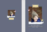 宝贝成长快乐-8X12锁线硬壳精装照片书40p