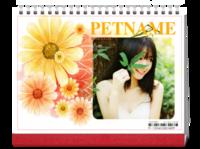 浪漫花海(写真、爱情、亲子、旅行)-8寸单面印刷跨年台历