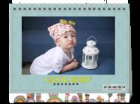 记录童年-萌娃-亲子-照片可替换-8寸双面印刷台历