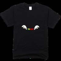 天使的翅膀舒适彩色T恤
