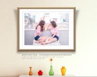 幸福宝贝-10寸木版画横款