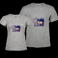 亲吻,爱情-修身情侣装纯棉T恤