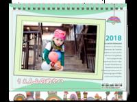 七彩童年(封面图片可替换)-8寸双面印刷台历