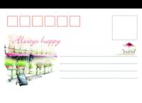 清新 素雅-正方留白明信片(横款)套装
