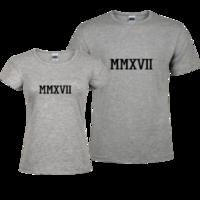MMXVII 2007-修身情侣装纯棉T恤