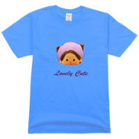 可爱蒙奇奇舒适彩色T恤
