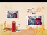 英国之旅(爱旅行)--世界旅行 复古欧美风-硬壳对裱照片书80p