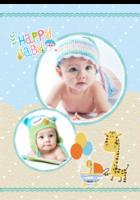 Happy Baby-快乐宝贝-B2单月竖款挂历