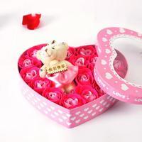 玫瑰花皂花礼盒 创意生日礼物 情人节礼物 送女友送妈妈
