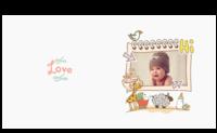 可爱宝宝的幸福童年(封面封底样图可更换)-8X8锁线硬壳精装照片书24p