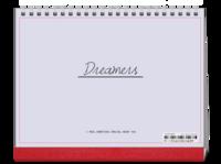 Dreamers追逐梦想勇敢前行-图文可改-时尚极简风-8寸单面印刷跨年台历