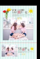 精彩瞬间儿童清新时尚浪漫温馨条纹-印刷胶装杂志册34p(如影随形系列)