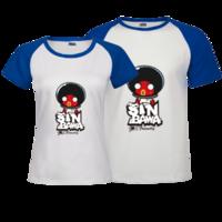 士巴蛙-时尚插肩情侣装T恤