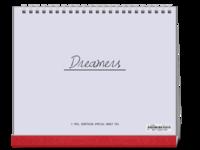 Dreamers追逐梦想勇敢前行-图文可改-时尚极简风-10寸双面跨年台历