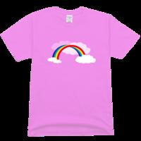 美丽的彩虹舒适彩色T恤