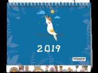 可爱卡通 2019 #-8寸单面印刷台历