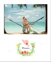 缤纷花朵(文字可编辑)旅行、爱情、青春、全家福等-定制照片卡