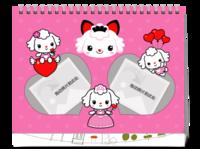 粉粉公主-8寸单面印刷台历