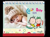 可爱宝贝  kiki coco 儿童 萌宝(字图可替换)-10寸双面印刷台历