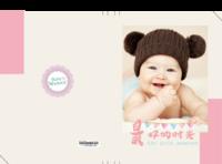 最好的时光 -宝贝成长手册 甜甜可爱公主风-8x12对裱特种纸20p套装