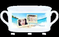 热播韩剧—蓝色大海的传说(李敏镐 全智贤)照片可替换-骨瓷白杯