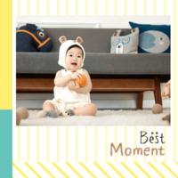 韩式儿童影楼模板 最好的时刻best moment开心童年记忆5 314-8x8双面水晶银盐照片书30p