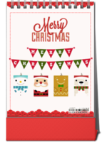 圣诞节快乐2018台历(全家福 宝贝 爱情 闺蜜 旅行礼物)-8寸竖款双面