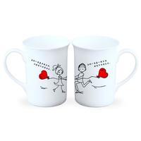 遇见-情侣骨瓷白杯