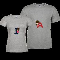 趣味字母-修身情侣装纯棉T恤