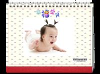 幸福宝贝-8寸双月单面印刷台历(7页)