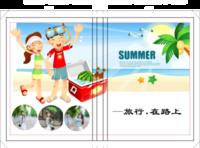 【精品通用模板】旅行在路上(封面照片可替换)-硬壳精装照片书20p