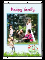 快乐全家福-幸福的一家人-全家福(照片可换、大容量)-A4杂志册(40P)
