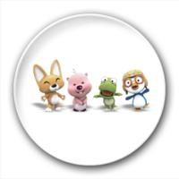 企鹅 青蛙 小熊 狐狸 卡通 小伙伴-2.5徽章