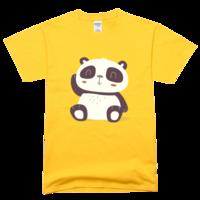 可爱大熊猫舒适彩色T恤