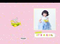 这是一个女孩(萌娃 儿童 亲子 照片可换)-硬壳对裱照片书80p