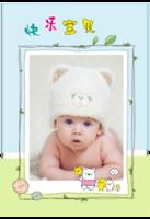 宝宝的幸福生活 可爱宝贝成长留念 快乐的日子 欢乐童年-8x12单面水晶印刷照片书30p