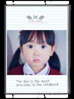 可爱萌宝(页内外照片可替换)-A4杂志册(42P)