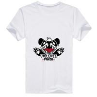 暴力熊猫男款精梳棉圆领T恤
