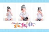 儿童 可爱 萌娃 照片可换-15寸木版画横款
