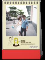 2018一直爱-8寸竖款单面台历