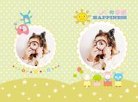 萌宝的幸福生活(小帅哥小美女通用 照片可替换)--亲子 可爱 萌 甜美 宝贝 宝宝-A3硬壳蝴蝶装照片书24P