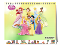 迪斯尼公主七仙女芭比娃娃亲子女孩全家福-8寸双面印刷台历