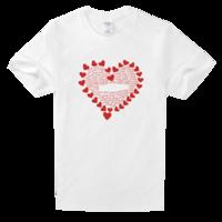 让爱填满舒适白色T恤