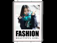 个人写真 英文 通用 纪念 时尚 照片可替换-A4时尚杂志册(26p)