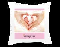 wonderful time (通用模板)粉色蓝色 我们幸福的回忆love-短皮绒面双面抱枕