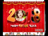 快乐宝贝2018的幸福时光-8寸单面印刷台历